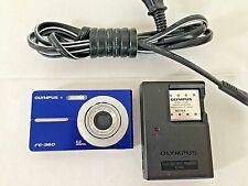 Olympus FE-360 8.0 MegaPixel Digital Camera - Blue  w/battery & charger