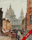 ST PAULS LUDGE HILL LONDON OLD ENGLAND ENGLISH BRITISH ART CANVAS PAINTING PRINT