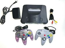 Nintendo 64 N64 System Console With 2 OEM Controllers Authentic & Clean!!