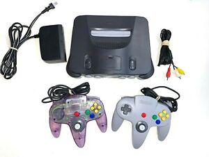 Nintendo 64 N64 Original System Console +2 ORIGINAL CONTROLLERS w/ NEW JOYSTICKS