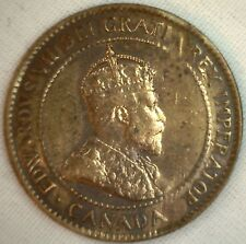 1905 Copper Canadian Large Cent Coin 1-Cent Canada VF #3