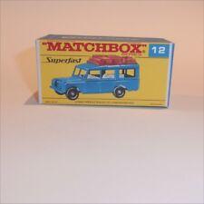 Matchbox Lesney Superfast 12 Land Rover Safari empty Repro F-SF1 style Box