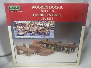 Lemax Village Collection Wooden Docks Set Of 3