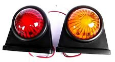 Led Rubber Mounted Lights Red/ Amber 1 Pair