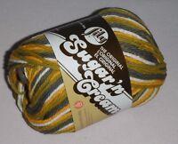 "5 Skeins, Lily, ""Sugar 'N Cream"", Sunrise Ombre, 100% Cotton Yarn"
