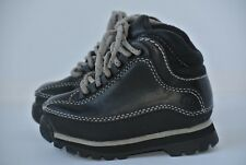 Timberland Boys Toddler Baby Sz 5 Black Leather Ankle Boots Shoes NICE!!