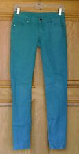 City Streets Ladies Size 1 Low Rise Skinny Green Jeans