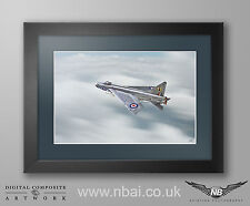 Framed English Electric F.2 Lightning, 19 Sqn RAF Gutersloh Print