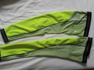 Crane Leg Warmers Fluoro Yellow Reflective Wind Resistant Extra Large XL
