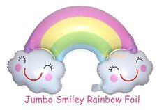 Jumbo Smiley Rainbow Foil Balloon Helium Quality Baby Shower Decoration (90cm)