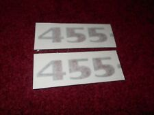 1976 PONTIAC FIREBIRD TRANS-AM TRANS AM 455 HOOD SCOOP DECALS SET PAIR GREY RED