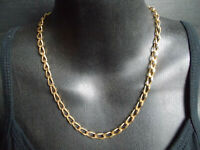 "18"" Lovely Vintage Gold Tone Signed MONET Chain Link Necklace"