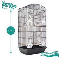 Bird Cage Parrot Aviary Pet Stand-alone Budgie Perch Castor 2 in 1 Design 92cm