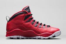 2015 Nike Air Jordan 10 Retro 30th BG SZ 7Y Bulls Over Broadway Red 705179-601