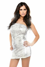 Fantasy Lingerie Metallic Swirl Tube Dress