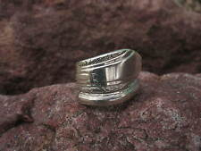 Antique Art Deco Design Spoon Ring Size 7.25 R259  Western Skies Silver