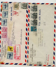 Korea   2 commercial  covers to US, one  registered   KL0401