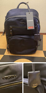 New Auth Tumi Voyageur Hilden Nylon Backpack in Midnight Blue light weight $345