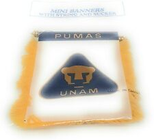 Pumas Flag Mini Banner  Car Window Mirror Decal Liga Mexicana bandera
