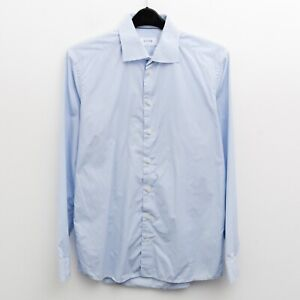 """ETON Men's 16"""" Size 41 Slim fit Formal Shirt Casual Long Sleeve Button Up Top"""