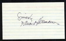 EDWARD HERRMANN {1943-2014} Signed 3x5 Index Card FILM TV Star FDR {Hermann} COA