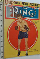 RARE SAMMY ANGOTT SIGNED RING MAGAZINE COVER 1941 & COA - OFFERS ACCEPTED .