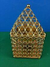 Metal Handmade TRI4 T-light candle-holder Home Decor iron gold 11x11x21 cm NEW