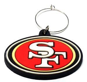 SAN FRANCISCO 49ERS WINE CHARM SOFT PLASTIC LOGO NEW NFL LICENSED FOOTBALL