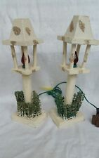 Vintage Street Lamps Retro Christmas Collectable Set Matching Pair