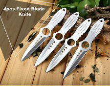 4pcs Stainless Steel Fixed Blade Knife with Bag throwing knife zombie killer