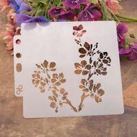 Reusable flowers Stencil Airbrush Art DIY Home Decor Scrapbooking Album Craft YK