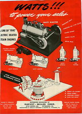 1946 PAPER AD Specialty Instument and Machine Co Toy Steam Engine Merry Go Round