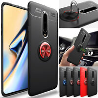 For OnePlus 7 Pro / 6T / 6 Case Shockproof Slim Soft TPU Ring Holder Stand Cover