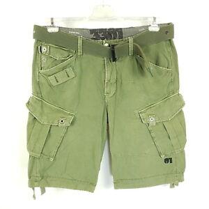 G-Star Cargo-Shorts Challenger Rovic Belt Pant 1/2 Herren W36 Grün Distressed