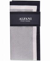 Alfani Mens Pocket Square White Black Owen Mini Polka Dot Silk Accessory $35 277
