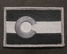 COLORADO STATE FLAG TACTICAL US ARMY BADGE SWAT VELCRO® BRAND FASTENER PATCH