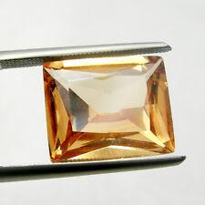 12x10mm Princess Cut Champagne Color Cubic Zirconia Loose Gemstone, 7.50 carats