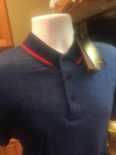 Authentic GUCCI Men's Polo shirt Blue , 100% Cotton, Small,Medium,large,Xl & Xxl