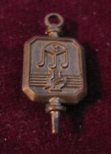 1920s-60s SPIES Bros. HIGH SCHOOL BAND Key Lapel Pin w/ Sixteenth Note Triplet