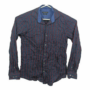 Bugatchi Uomo Mens Shirt Size M Shaped Fit Long Sleeve Button Up Striped