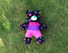 Pre Owned Build A Bear - Black Star Print Bear With Outfit