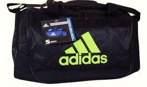 NEW Adidas Defense Duffel Small Black/Lime Green - Yellow Sport Gym Bag Defender