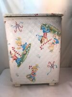 Vtg Pep'mint Kids Child's Nursery Small Clothes Hamper NICE GRAPHICS!