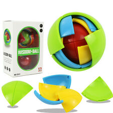 Kids 3D Wisdom Ball Maze Brain Logic Puzzle Game Assembly Development Funny Toys
