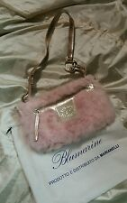Blumarine blu girl borsa pouch hand bag col rosa pink cm 25 x cm 12 con dustbag