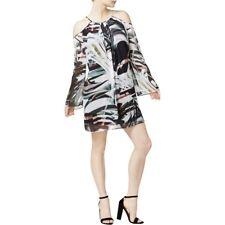 Bar III Womens Cold Shoulder Chiffon Dress Size Large -$79.50 -NWT -DEFECTS