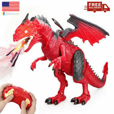 Remote Control Dinosaur Dragon Toy for Kids Realistic Large Size Red