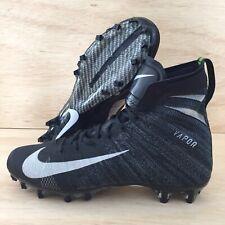 Nike Vapor Untouchable 3 Elite Football Cleats Black Silver Mens SZ 12 New