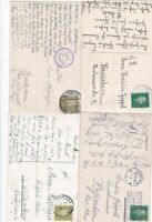 4 1930s GERMAN   POST CARDS   . REF R723