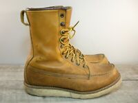 Red Wing Shoes 877 8'' Classic Moc Toe Oro Legacy Men's Leather Boots Size 8 EE